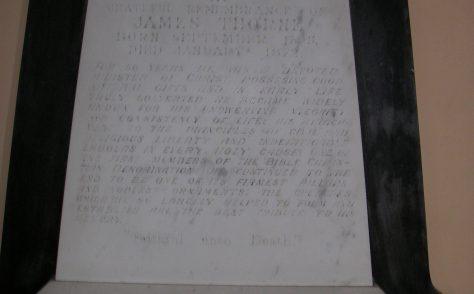 Memorials in Lake - James Thomas Thorne