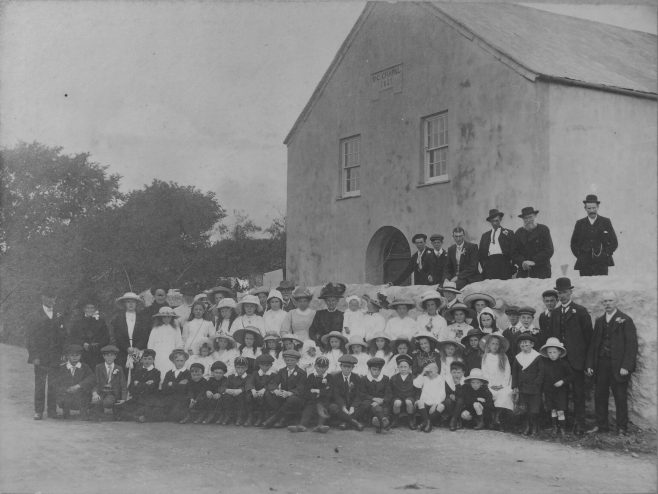 Leedstown Chapel. Opened 1837, closed before 1932. Sunday School in the 1890s | Colin Short collection
