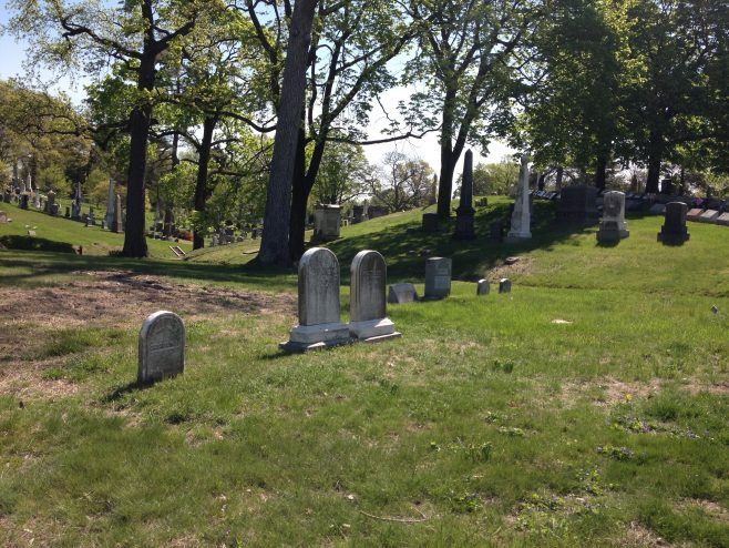 Tombstones at Green-Wood Cemetery - William and Catherine Bryant