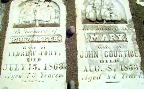 Tombstone at Elizabeth Street Pioneer Cemetery - Elizabeth Courtice Cory (1790-1863)