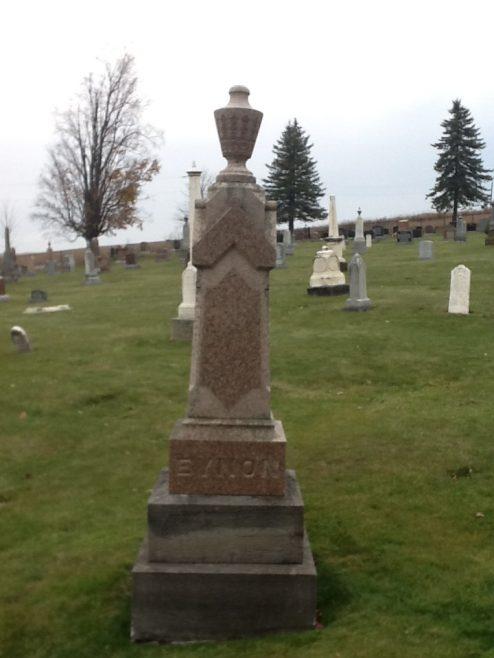 Tombstone for Elizabeth Dart Eynon (1792-1857) and John Hick Eynon (1801-1888) | J. Bowen 9 Nov 2013