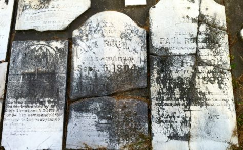 Tombstones at Providence Cemetery - Ann Vickery Robins, Mary Ann Taylor Robins and Paul Robins