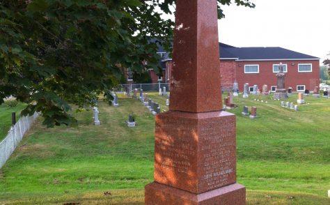 Tombstone at Ebenezer Cemetery - Grace Mason Courtice (1801-1872)