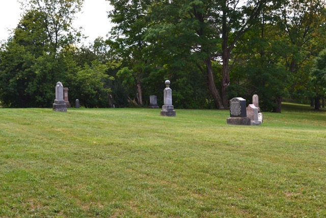 Gravesite at Columbus Bible Christian Cemetery - Mary Lyle Tucker (1797-1885)