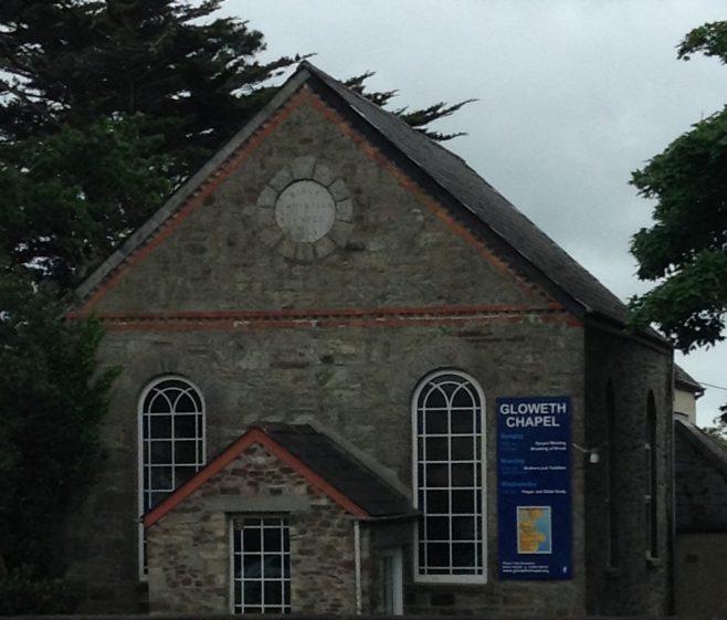 Gloweth chapel front.