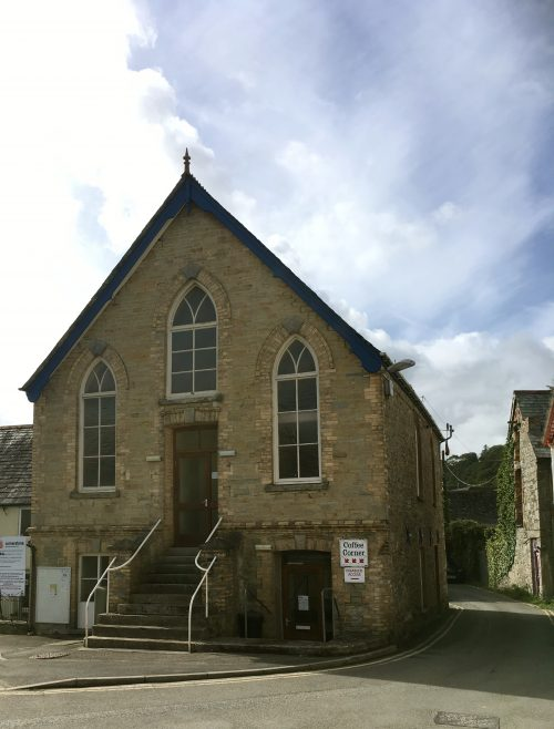 Wadebridge Bible Christian Chapel. The chapel is now part of the methodist church in Wadebridge - The Cornerstone Church. It was built in 1852 and restored in 1896 originally seating 220 people.