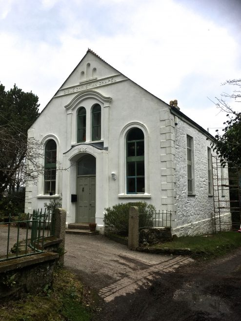 White Rose Chapel, Chacewater. Also known as the Zion Chapel This was built in 1905 on the outskirts of the village in the proliferation of chapels as the village became wealthy through mining This has been sympathetically converted to a 4 bedroom dwelling