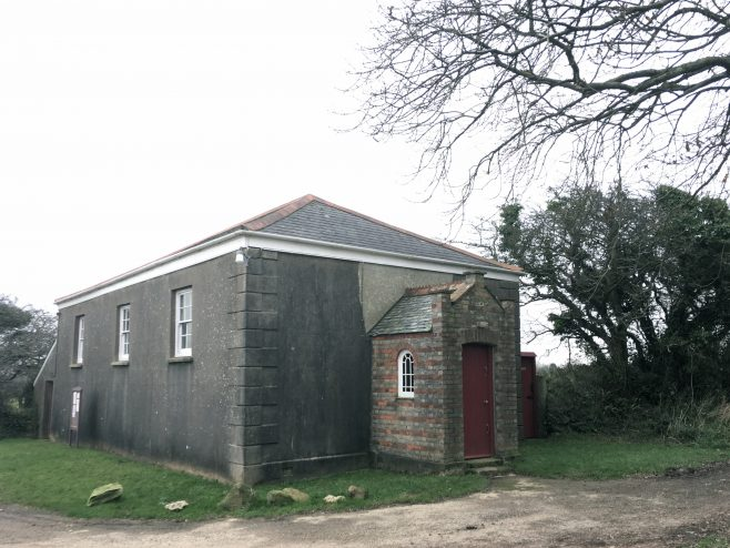 Billy Bray's Chapel (Kerley Down). Also know as Three Eyes Chapel because of its windows, this is the second and only remaining chapel of three built by Billy Bray (1794–1868), a renowned Cornish tin miner and local preacher in the 'Bible Christian' Methodist denomination. Billy and his son worked all their spare time to help build the chapel, even after a hard day working the mines. The deed of trust was drawn up dated 4th July, 1836.