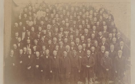 An old photo taken at a Conference circa 1890