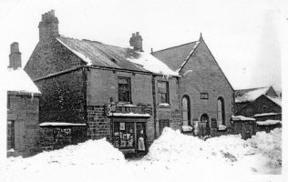 Image of the chapel taken during the Great Storm of 1886 | Image from the collections of the Newcastle upon Tyne District Archives