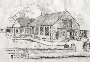 Architect's sketch in 1932 for the new Felling Shore chapel | Images from the collections of the Newcastle upon Tyne District Archives