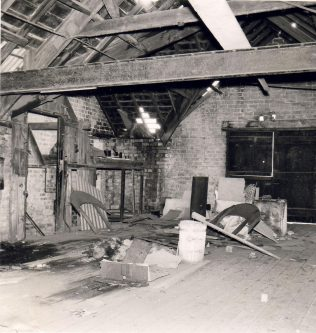 Interior of the former Wrekenton MNC chapel prior to demolition