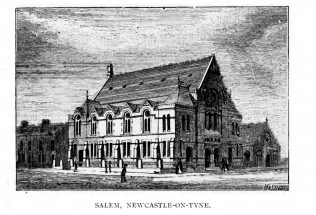 Newcastle upon Tyne Salem Methodist New Connexion chapel | The centenary of the Methodist New Connexion 1797-1897 by T.D. Crothers, T. Rider, W. Longbottom and W.J. Townsend. London: Geo. Burroughs, 1897