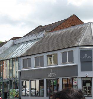 1 Northampton Wellingborough Road Wesleyan Reform Chapel,roof and  glazed frontage, 10.7.2019