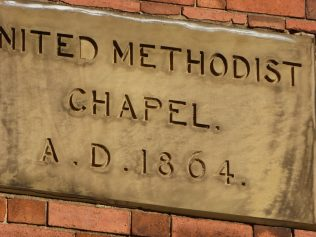 5 Mountsorrell UMFC chapel, name and date plaque, 26.10.2018