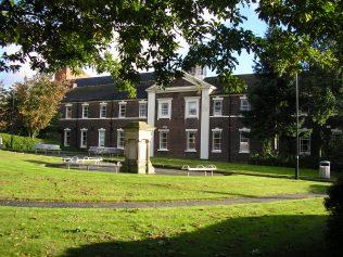 7 Stoke on Trent, Bethesda MNC Chapel,school facade with a surviving memorial stone, 10.10.2016