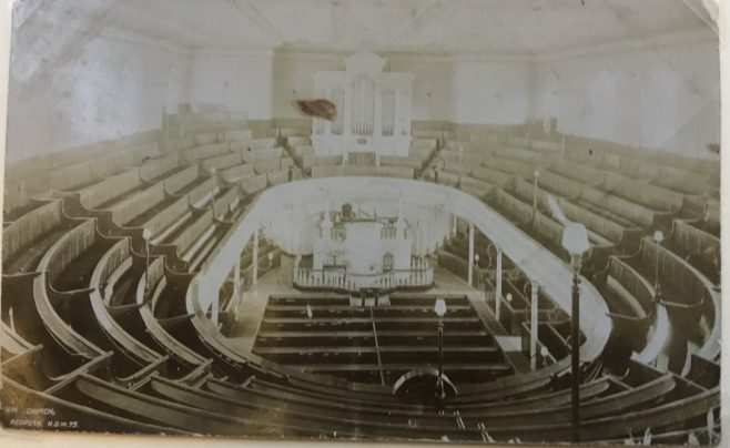 Interior of Redruth Fore Street United Methodist Free Church | Stephen Wild postcard collection