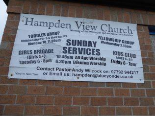 Sheffield, Wesleyan Reforn Union chapel, notice board 014.02.2020
