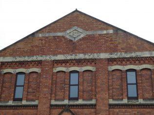 2 Wellingborough Alma Street Independent Wesleyan Chapel, date and name 3.1.2019
