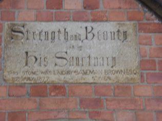 3 Wellingborough Alma Street Independent Wesleyan Chapel, plaque  3.1.2019