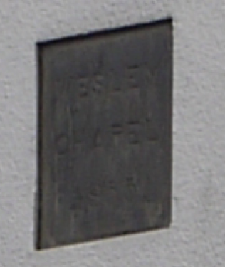 Quorn, Wesley Chapel, School Lane plaque | Philip Thornborow, 2013