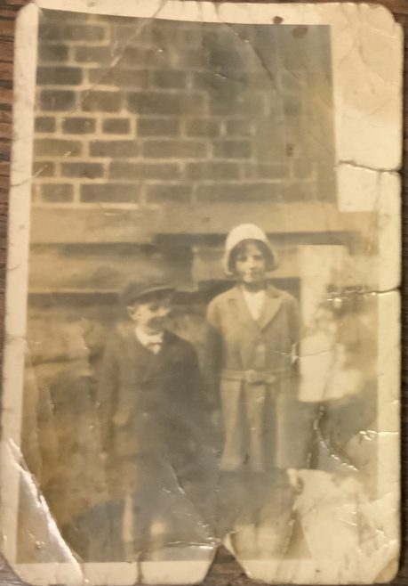 Leonard and Edna Wild at the Sunday School Anniversary at  Old Royd Independent Methodist chapel 1930