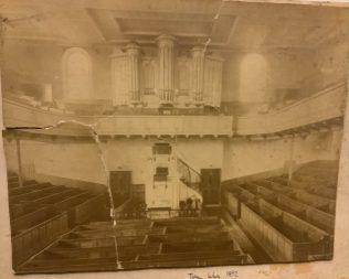ROCHDALE Baillie Street UMFC Church - interior before 1892