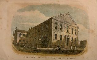 Baillie Street Methodist Church Rochdale - an early print