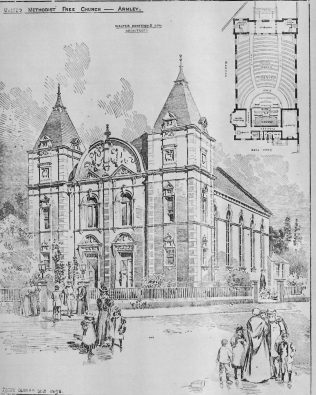 Armley United Methodist Free Church   The Building News, 1898