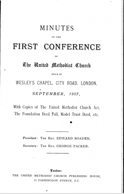 Minutes of the First Conference 1907
