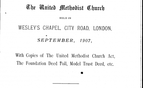 Minutes of the First Conference of the United Methodist Church
