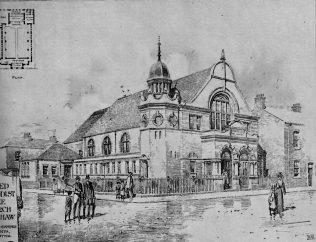 United Methodist Free Church, Openshaw   The Building News, 1904