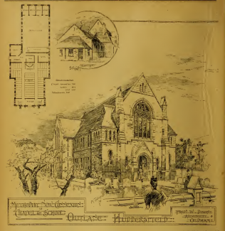 Outlane, Bethel Methodist New Connexion chapel, New Hey Road | The Building News and Engineering Journal, 1896