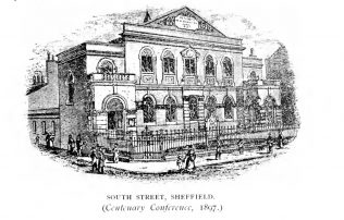 South Street MNC, Sheffield   The centenary of the Methodist New Connexion 1797-1897 by T.D. Crothers, T. Rider, W. Longbottom and W.J. Townsend. London: Geo. Burroughs, 1897