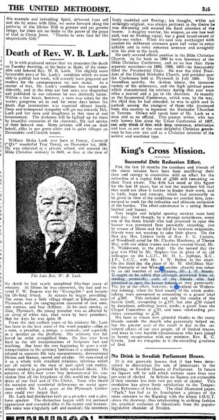 Obituary published in the United Methodist - April 1913