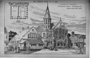 Waverley Park, Nunhead, Chapel and Schools   The Building News, 1898