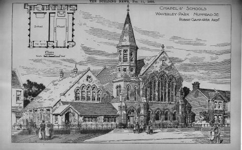 Waverley Park Methodist New Connexion chapel and schools, Ivydale Road, Nunhead