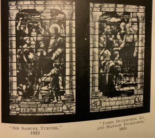 The stained glass windows of Baillie Street UM Church