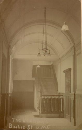 Baillie Street UMC Rochdale lobby 1912