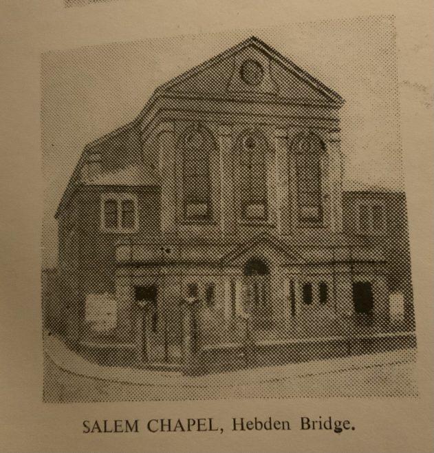 Salem Methodist New Connexion church Hebden Bridge Yorkshire | From Rev. Steven Wild's postcard collection