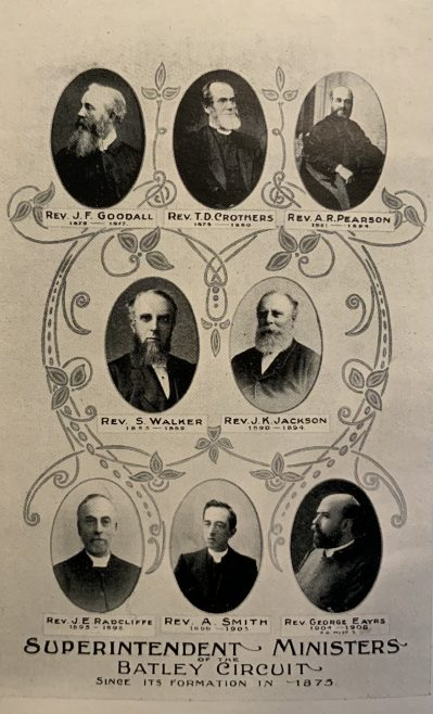 Methodist New Connexion ministers 1875 - 1904 Batley Circuit Yorkshire