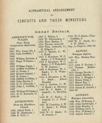 UMFC Circuits and ministers