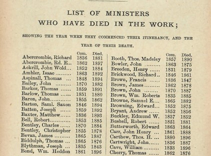 Dead  by1898 UMFC ministers