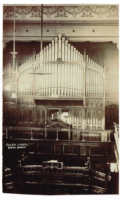 Salem Chapel, Berry Brow   Postcard belonging to Rev Steven Wild