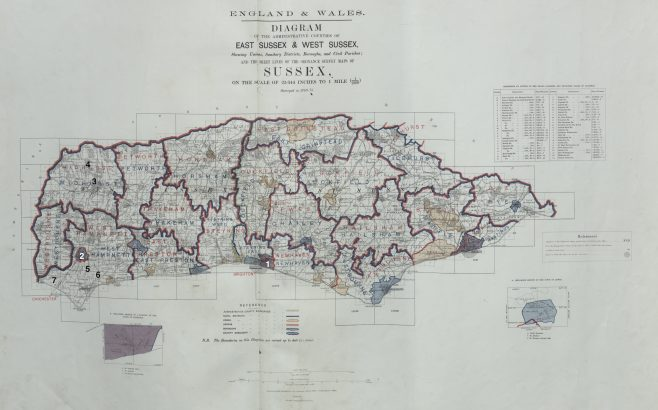 Sussex - Bible Christian chapels regsitered before 1867 | This work incorporates historical material provided by the Great Britain Historical GIS Project and the University of Portsmouth through their web site A Vision of Britain through Time (https://www.VisionofBritain.org.uk).