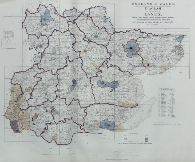 Essex - United Methodist Free Churches in 1867 | This work incorporates historical material provided by the Great Britain Historical GIS Project and the University of Portsmouth through their web site A Vision of Britain through Time (https://www.VisionofBritain.org.uk).